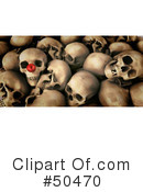 Skulls Clipart #50470 by Frank Boston