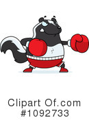Skunk Clipart #1092733 by Cory Thoman