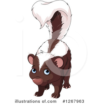 Skunk Clipart #1267963 by Pushkin