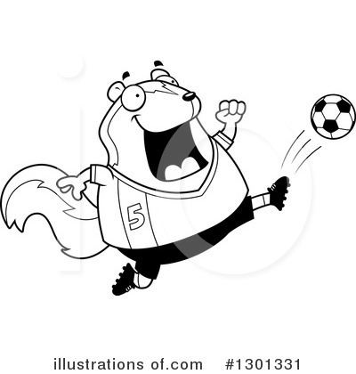 Royalty-Free (RF) Skunk Clipart Illustration by Cory Thoman - Stock Sample #1301331