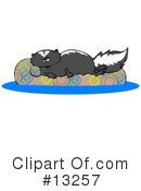 Royalty-Free (RF) Skunk Clipart Illustration #13257