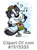 Skunk Clipart #1515333 by Cory Thoman