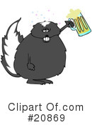 Royalty-Free (RF) Skunk Clipart Illustration #20869