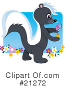 Skunk Clipart #21272 by Maria Bell