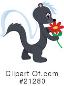 Skunk Clipart #21280 by Maria Bell