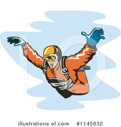 Skydiving Clipart #1145032 by patrimonio