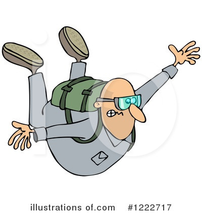 Skydiving Clipart #1222717 by djart