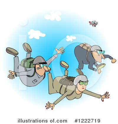 Skydiving Clipart #1222719 by djart