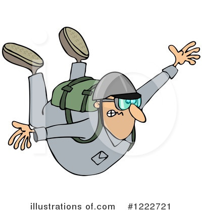 Skydiving Clipart #1222721 by djart