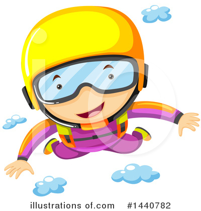 Skydiving Clipart #1440782 by Graphics RF