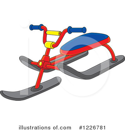 Sledding Clipart #1226781 by Alex Bannykh