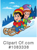 Sledding Clipart #1083338 by visekart