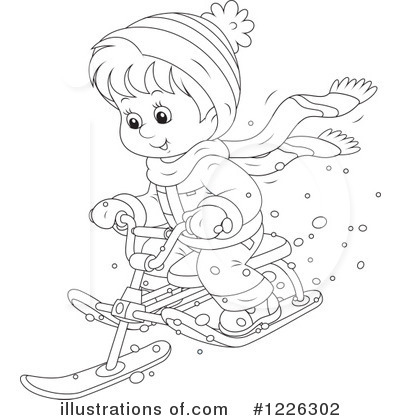 Sledding Clipart #1226302 by Alex Bannykh