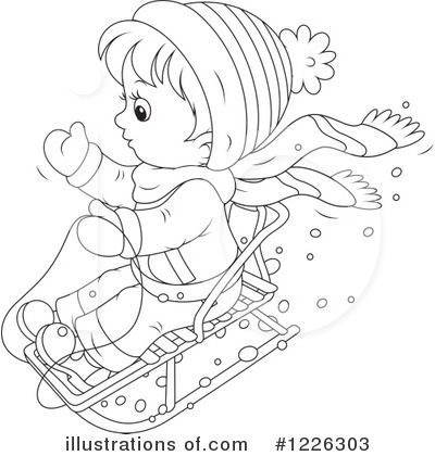 Sledding Clipart #1226303 by Alex Bannykh