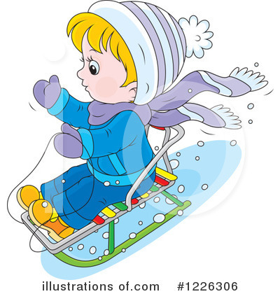 Sledding Clipart #1226306 by Alex Bannykh