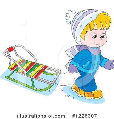 Sledding Clipart #1226307 by Alex Bannykh