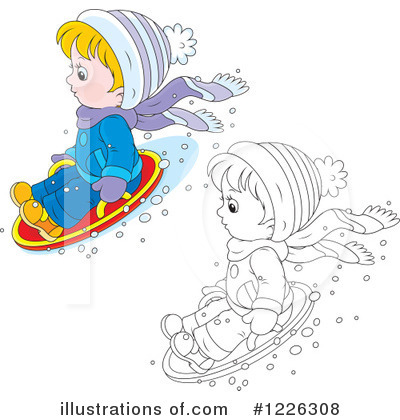 Snow Tubing Clipart #1226308 by Alex Bannykh