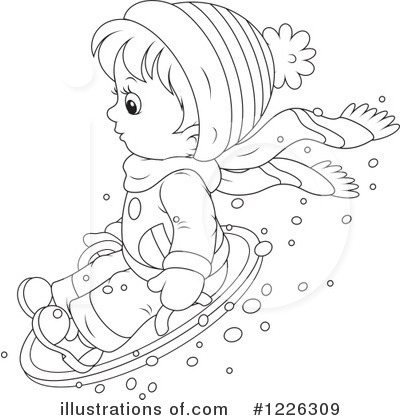 Snow Tubing Clipart #1226309 by Alex Bannykh