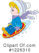Sledding Clipart #1226310 by Alex Bannykh