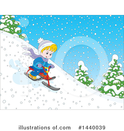 Royalty-Free (RF) Sledding Clipart Illustration by Alex Bannykh - Stock Sample #1440039