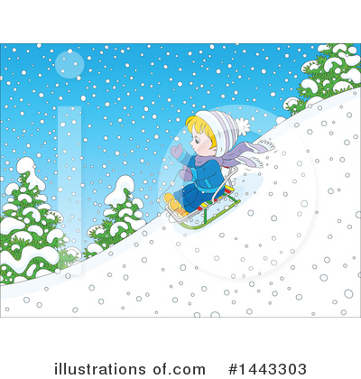 Sledding Clipart #1443303 by Alex Bannykh