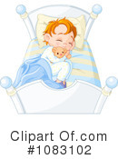 Royalty-Free (RF) Sleeping Clipart Illustration #1083102