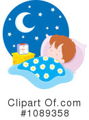 Royalty-Free (RF) Sleeping Clipart Illustration #1089358
