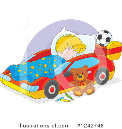 Royalty-Free (RF) Sleeping Clipart Illustration by Alex Bannykh - Stock Sample #1242748