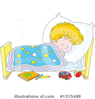 Royalty-Free (RF) Sleeping Clipart Illustration by Alex Bannykh - Stock Sample #1315498