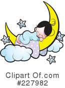 Royalty-Free (RF) Sleeping Clipart Illustration #227982