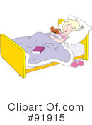 Royalty-Free (RF) Sleeping Clipart Illustration #91915
