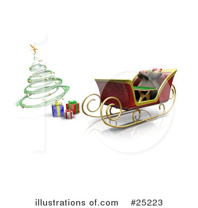 Royalty-Free (RF) Sleigh Clipart Illustration by KJ Pargeter - Stock Sample #25223