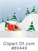Royalty-Free (RF) Sleigh Clipart Illustration #80449