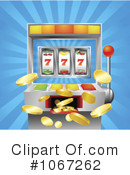 Royalty-Free (RF) slot machine Clipart Illustration #1067262