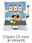 Royalty-Free (RF) slot machine Clipart Illustration #1069435