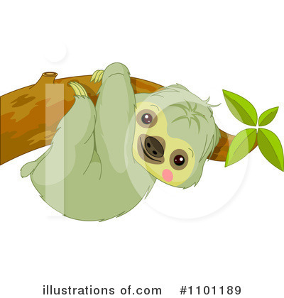 Sloth Clipart #1101189 by Pushkin