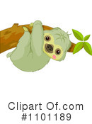 Royalty-Free (RF) sloth Clipart Illustration #1101189
