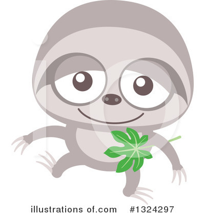 Sloth Clipart #1324297 by Zooco