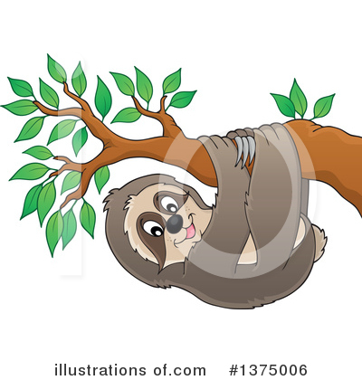 Sloth Clipart #1375006 by visekart