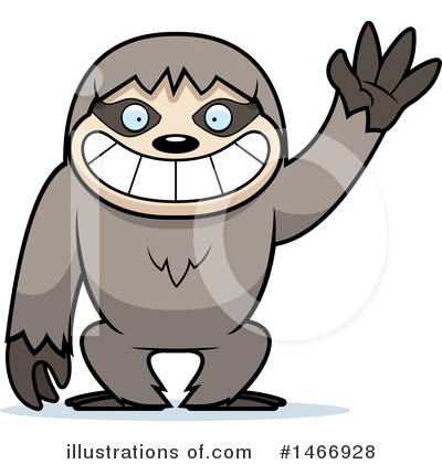 Sloth Clipart #1466928 by Cory Thoman