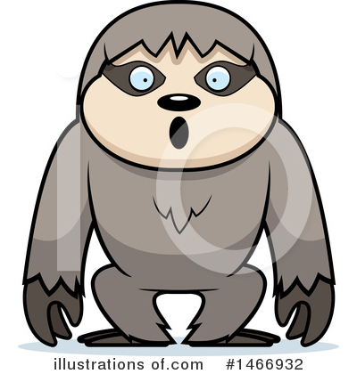 Sloth Clipart #1466932 by Cory Thoman