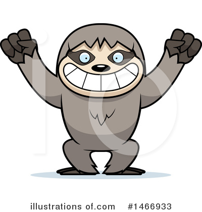 Sloth Clipart #1466933 by Cory Thoman