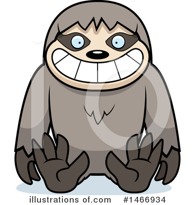 Sloth Clipart #1466934 by Cory Thoman