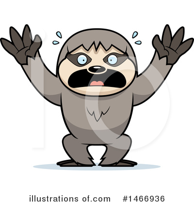 Sloth Clipart #1466936 by Cory Thoman