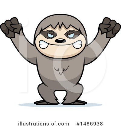 Sloth Clipart #1466938 by Cory Thoman