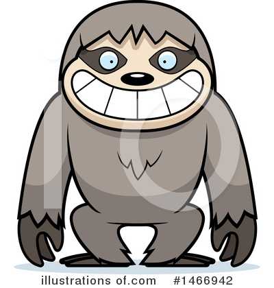 Sloth Clipart #1466942 by Cory Thoman