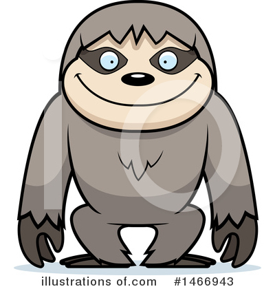 Sloth Clipart #1466943 by Cory Thoman