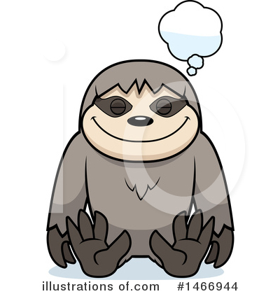 Royalty-Free (RF) Sloth Clipart Illustration by Cory Thoman - Stock Sample #1466944