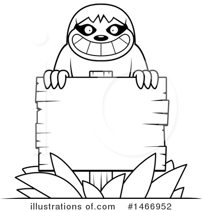 Sloth Clipart #1466952 by Cory Thoman
