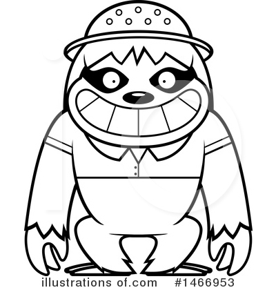 Sloth Clipart #1466953 by Cory Thoman